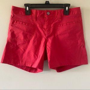 Athleta Red Trekkie Cargo Hiking Shorts